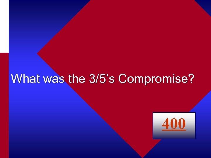 What was the 3/5's Compromise? 400