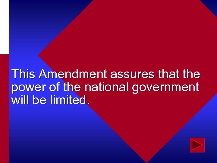 This Amendment assures that the power of the national government will be limited.