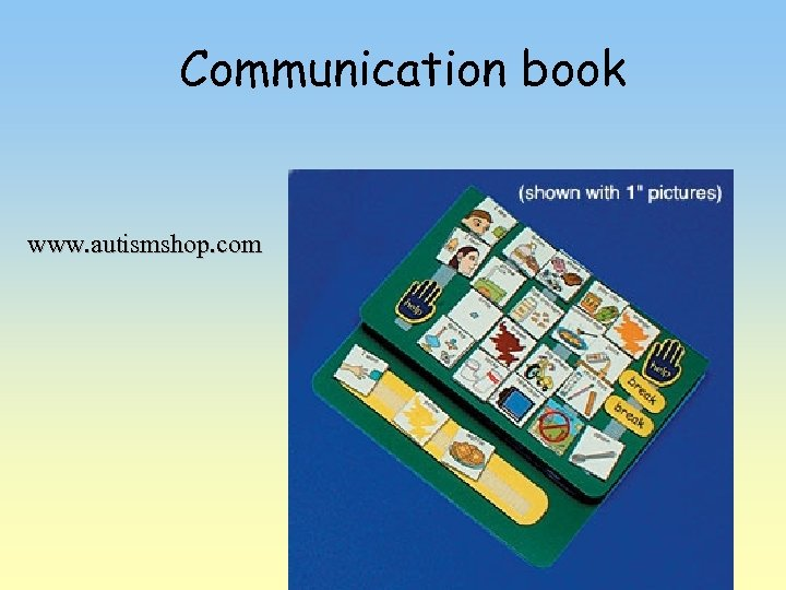 Communication book www. autismshop. com