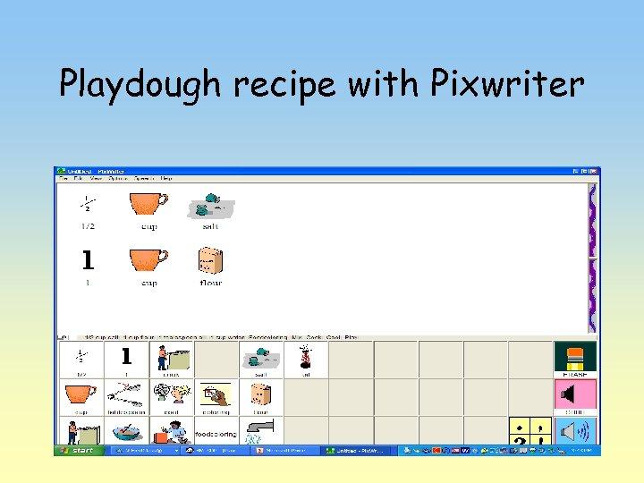 Playdough recipe with Pixwriter