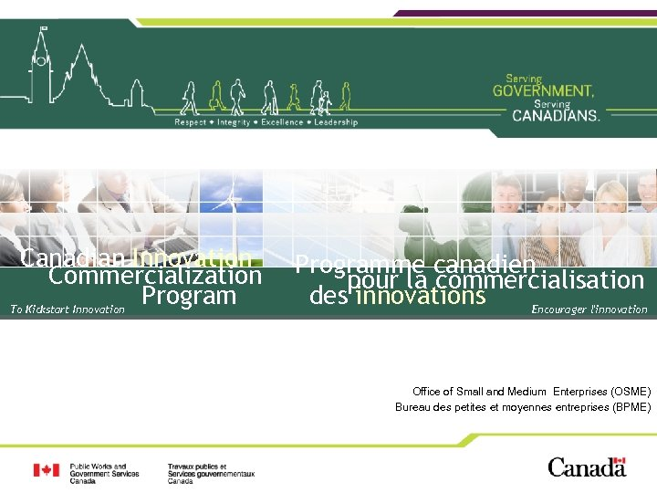 Canadian Innovation Commercialization Program To Kickstart Innovation Programme canadien pour la commercialisation des innovations