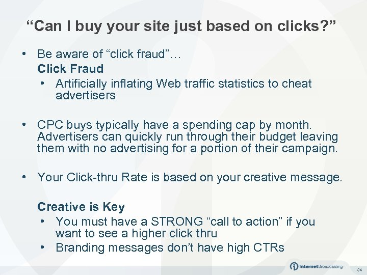 """""""Can I buy your site just based on clicks? """" • Be aware of"""