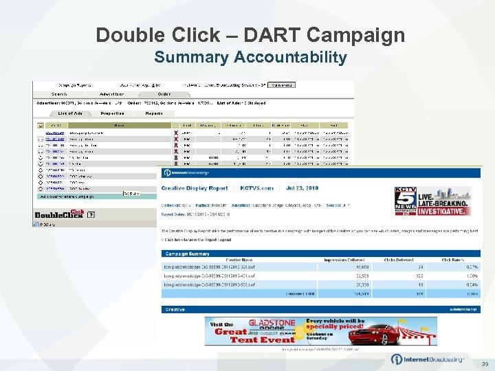 Double Click – DART Campaign Summary Accountability 39