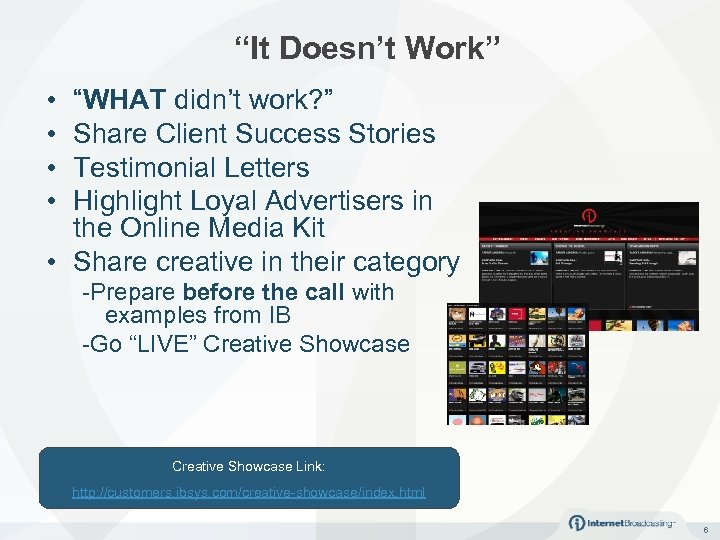 """""""It Doesn't Work"""" • • """"WHAT didn't work? """" Share Client Success Stories Testimonial"""