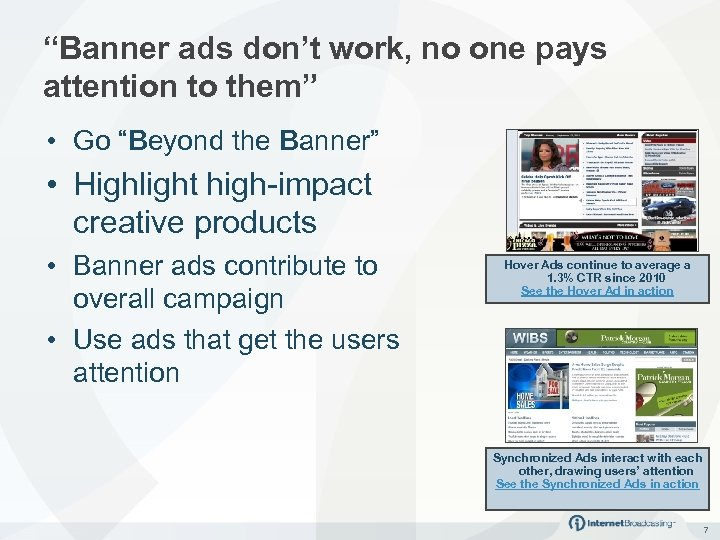 """Banner ads don't work, no one pays attention to them"" • Go ""Beyond the"