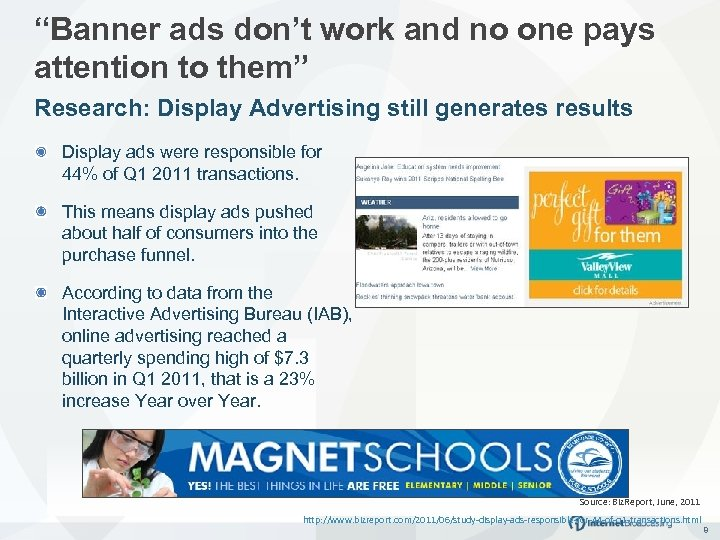 """""""Banner ads don't work and no one pays attention to them"""" Research: Display Advertising"""
