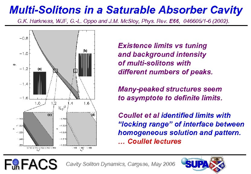 Multi-Solitons in a Saturable Absorber Cavity G. K. Harkness, WJF, G. -L. Oppo and