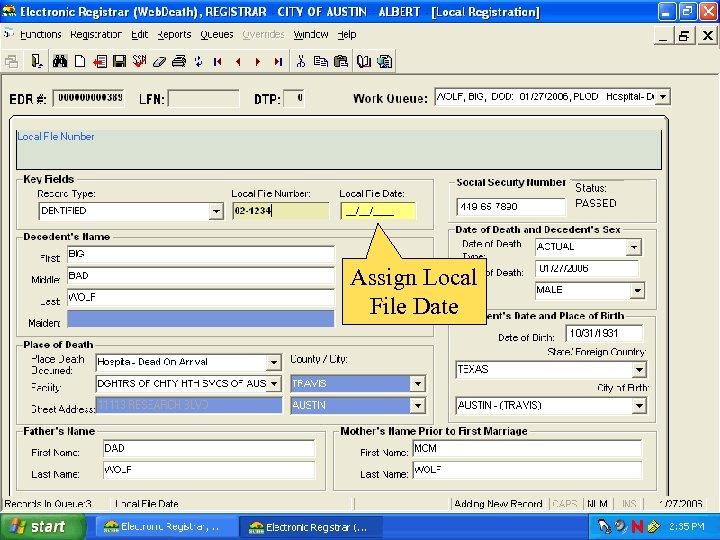 Assign Local File Date