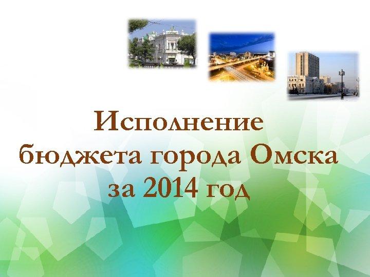 Исполнение бюджета города Омска за 2014 год