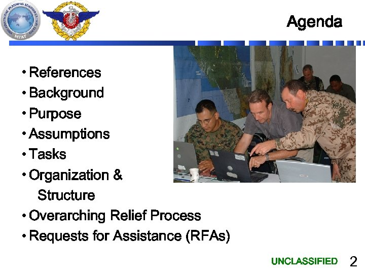 Agenda • References • Background • Purpose • Assumptions • Tasks • Organization &
