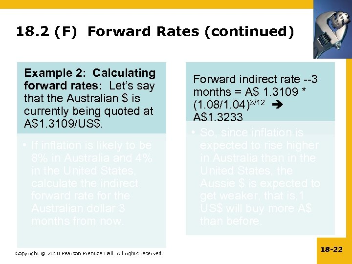 18. 2 (F) Forward Rates (continued) Example 2: Calculating forward rates: Let's say that