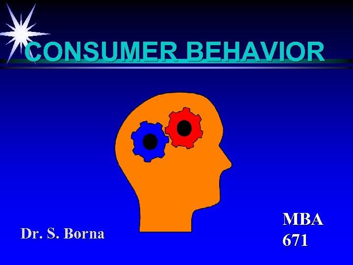 CONSUMER BEHAVIOR Dr. S. Borna MBA 671