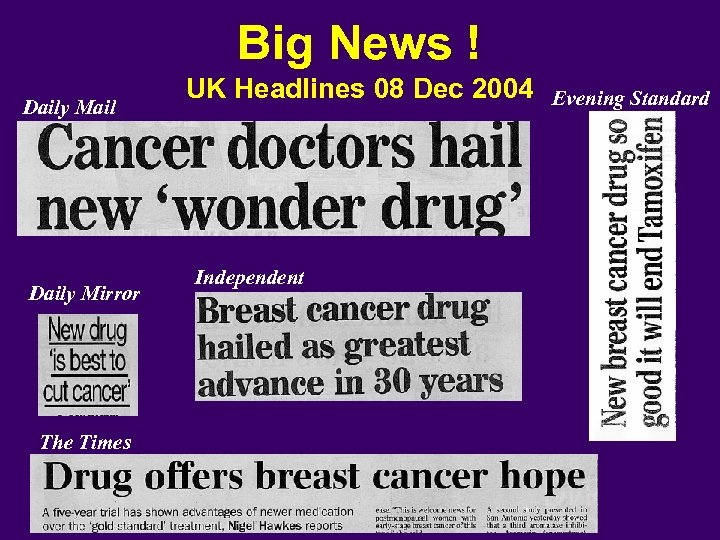 Big News ! Daily Mail Daily Mirror The Times UK Headlines 08 Dec 2004