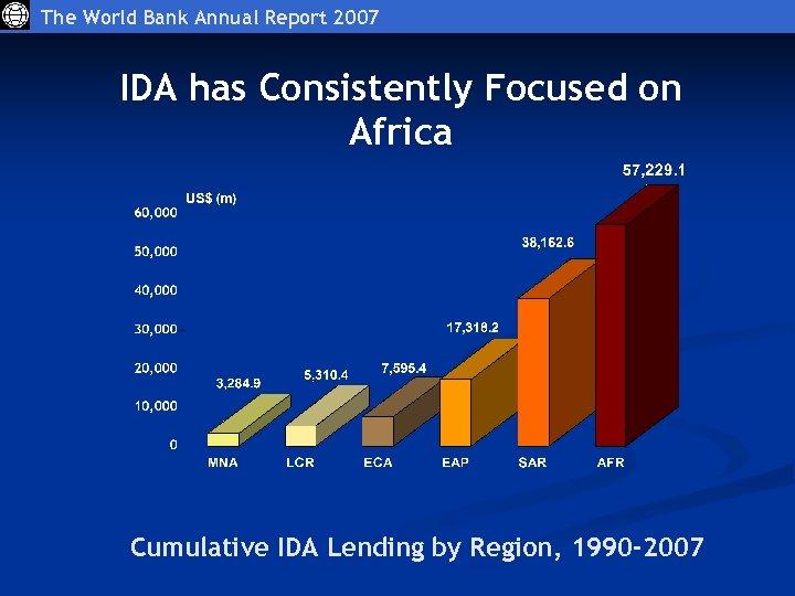 The World Bank Annual Report 2007 IDA has Consistently Focused on Africa Cumulative IDA