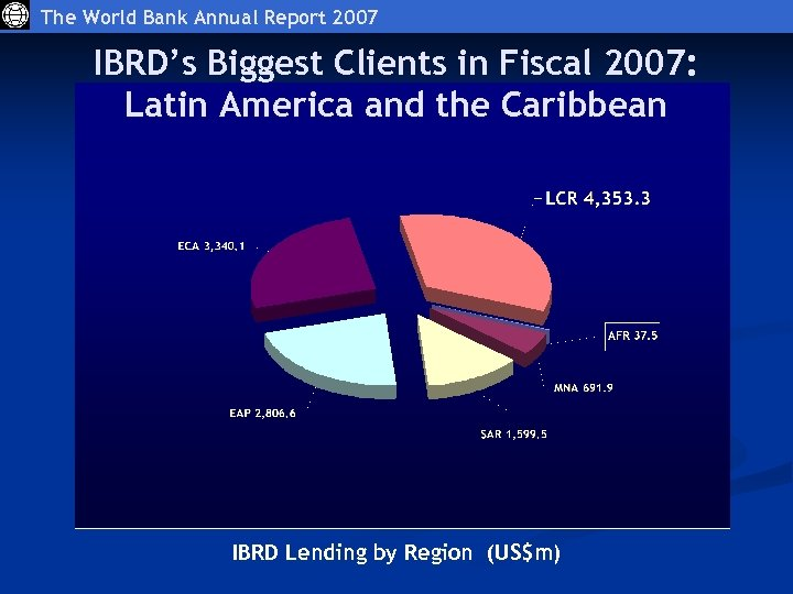 The World Bank Annual Report 2007 IBRD's Biggest Clients in Fiscal 2007: Latin America