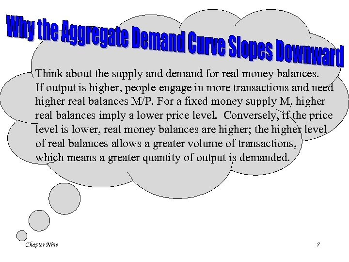 Think about the supply and demand for real money balances. If output is higher,