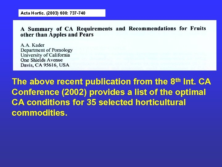 Acta Hortic. (2003) 600: 737 -740 The above recent publication from the 8 th