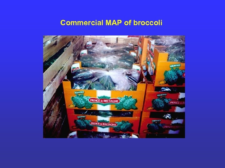 Commercial MAP of broccoli