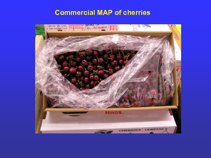 Commercial MAP of cherries