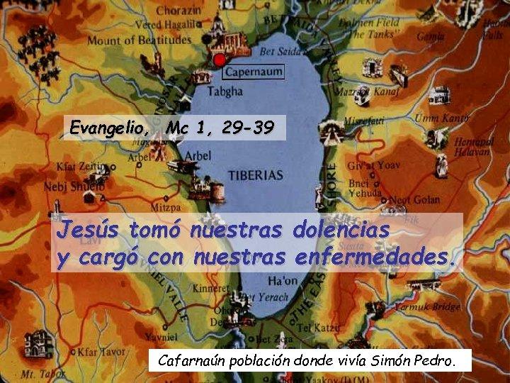 Evangelio, Mc 1, 29 -39 Jesús tomó nuestras dolencias y cargó con nuestras enfermedades.