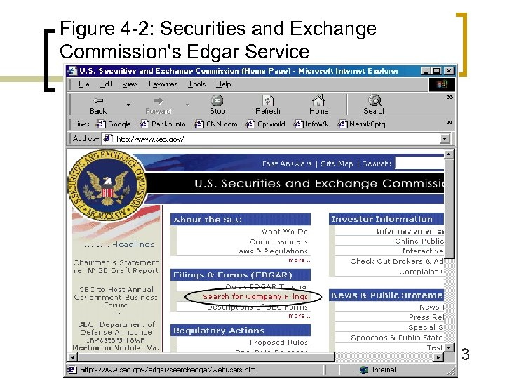 Figure 4 -2: Securities and Exchange Commission's Edgar Service 3