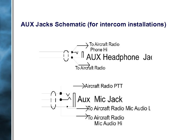 AUX Jacks Schematic (for intercom installations)