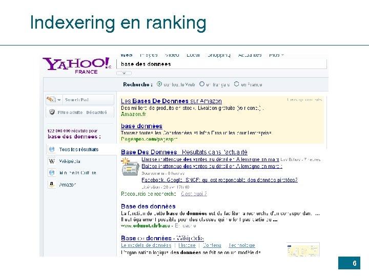 Indexering en ranking 6