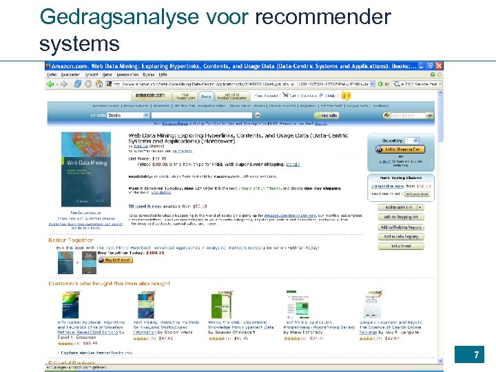 Gedragsanalyse voor recommender systems 7