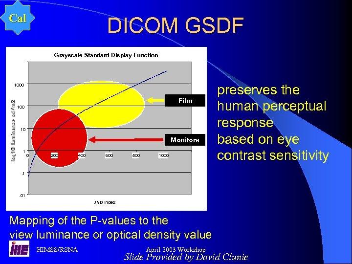 Cal DICOM GSDF Grayscale Standard Display Function 1000 Film 100 10 Monitors 1 0