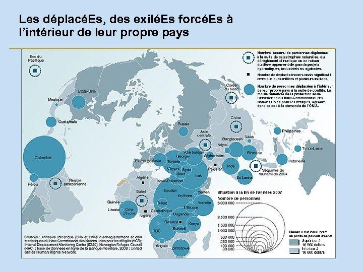 Les déplacéEs, des exiléEs forcéEs à l'intérieur de leur propre pays