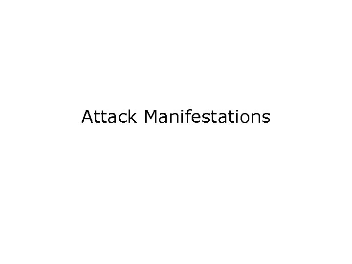 Attack Manifestations