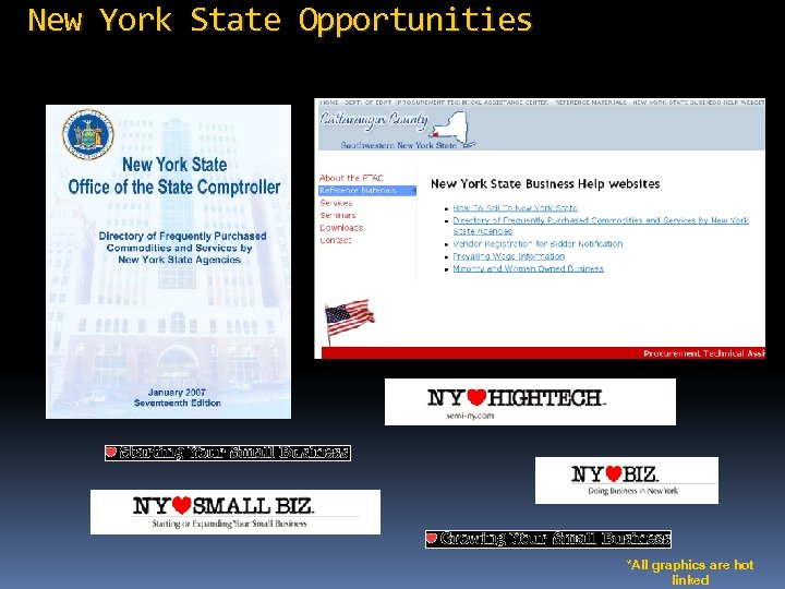 New York State Opportunities *All graphics are hot linked