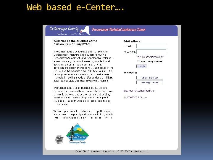 Web based e-Center….