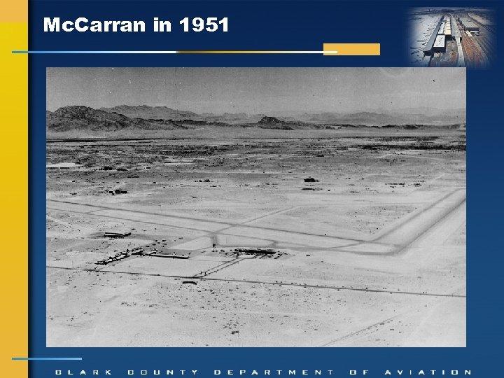 Mc. Carran in 1951