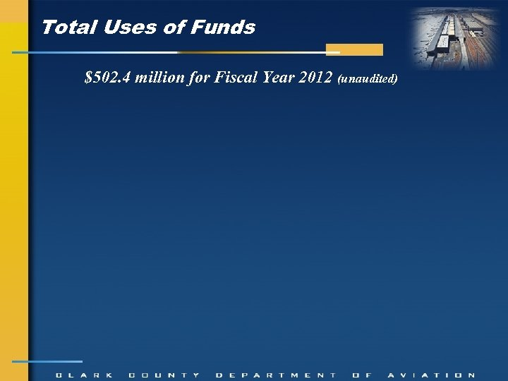 Total Uses of Funds $502. 4 million for Fiscal Year 2012 (unaudited)