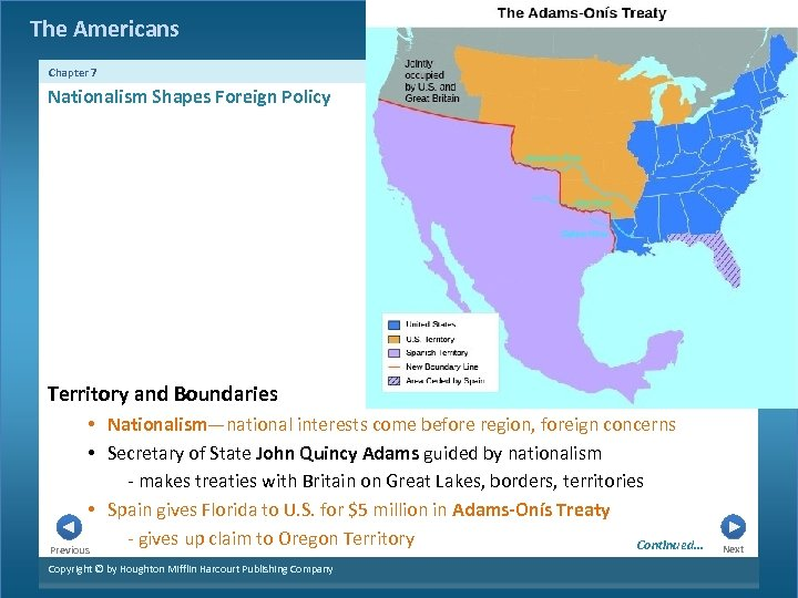 The Americans Chapter 7 Nationalism Shapes Foreign Policy Territory and Boundaries • Nationalism—national interests