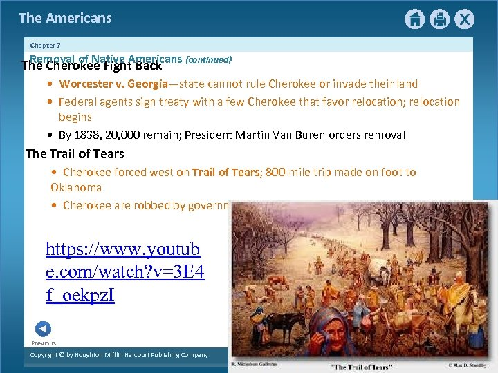 The Americans Chapter 7 Removal of Native Americans {continued} The Cherokee Fight Back •