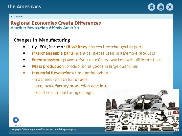 The Americans Chapter 7 Regional Economies Create Differences Another Revolution Affects America Changes in