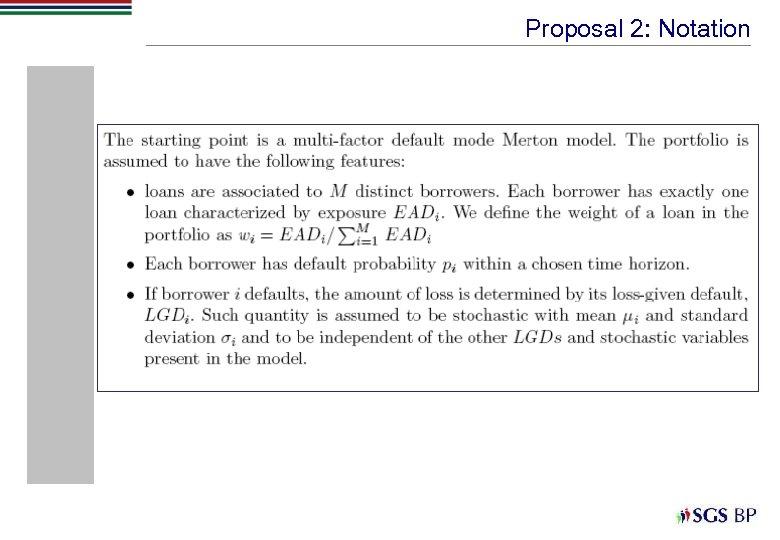 Proposal 2: Notation