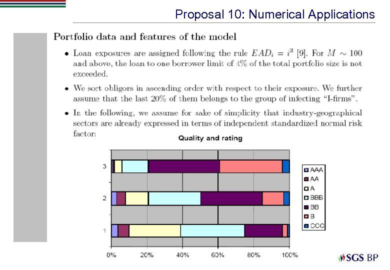 Proposal 10: Numerical Applications