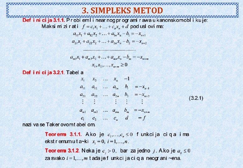3. SIMPLEKS METOD