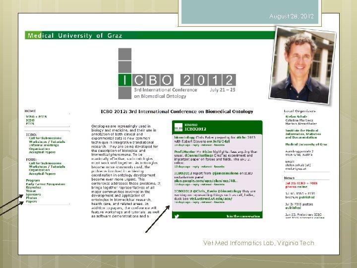 August 28, 2012 Vet Med Informatics Lab, Virginia Tech