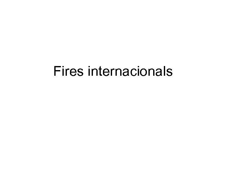 Fires internacionals