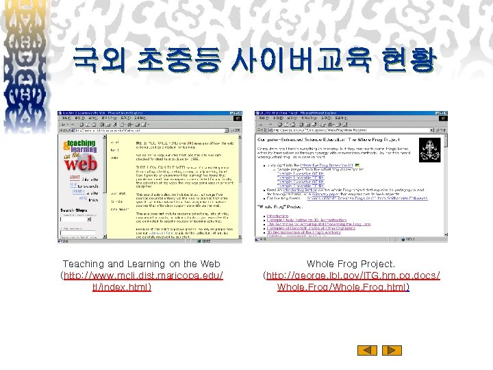 국외 초중등 사이버교육 현황 Teaching and Learning on the Web (http: //www. mcli. dist.