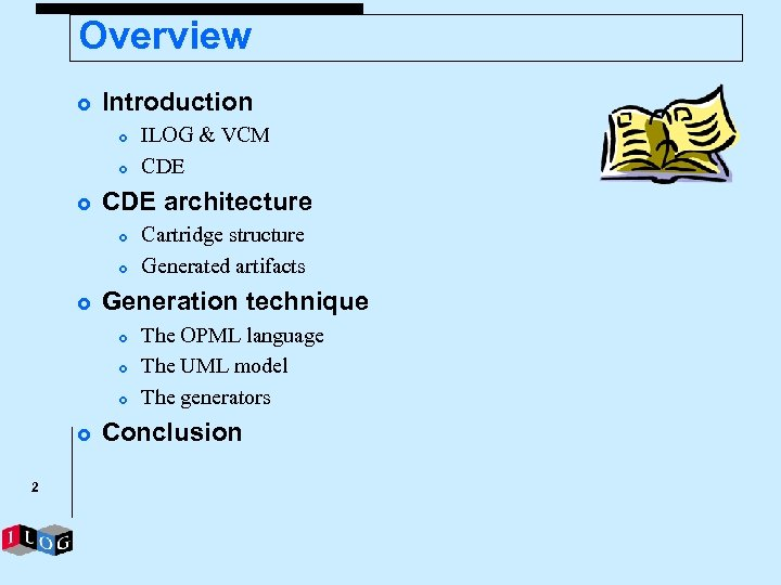 Overview £ Introduction £ £ £ CDE architecture £ £ £ 2 Cartridge structure