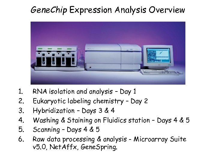 Gene. Chip Expression Analysis Overview 1. 2. 3. 4. 5. 6. RNA isolation and