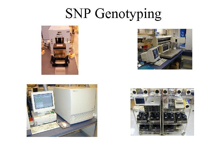 SNP Genotyping 1 2 PCR Set-up: Packard Multiprobe II liquid handler Template aliquotting: Robbins