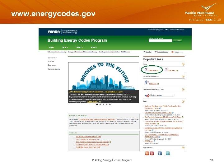 www. energycodes. gov Building Energy Codes Program 55