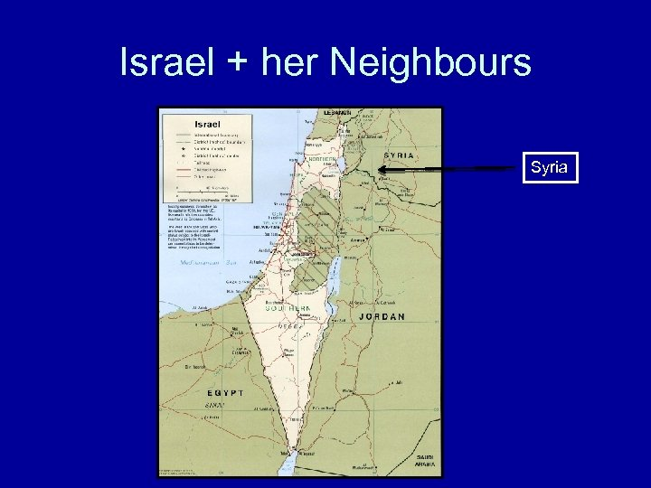 Israel + her Neighbours Syria