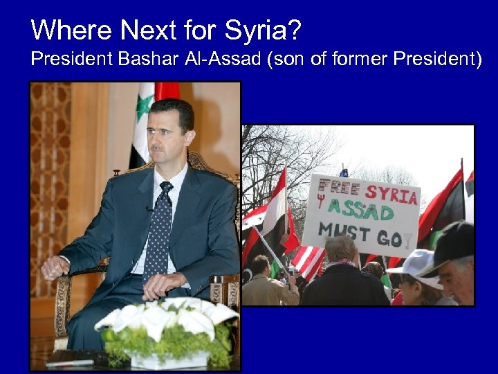Where Next for Syria? President Bashar Al-Assad (son of former President)
